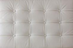 Witte echte leerstoffering Stock Foto's