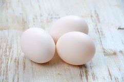 Witte eieren Royalty-vrije Stock Fotografie