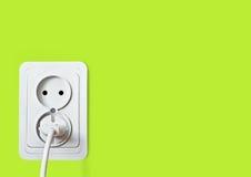 Witte elektrische contactdoos Royalty-vrije Stock Fotografie