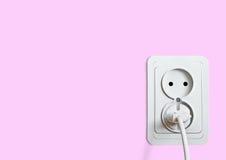 Witte elektrische contactdoos Royalty-vrije Stock Foto's