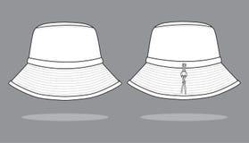 Witte Emmerhoed voor Malplaatje: Kurk stock illustratie