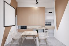 Witte en beige bureauvergaderzaal Stock Fotografie