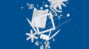 Witte en blauwe abstractie Stock Afbeelding