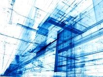 Witte en blauwe achtergrond - abstract digitaal geproduceerd beeld Stock Afbeelding