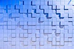 Witte en blauwe achtergrond van regelmatig gevormd stock afbeelding