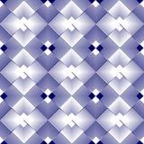 Witte en blauwe romboïdale regelmatige patronen in omgekeerde die ontwerp herhalen Royalty-vrije Stock Foto