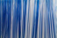 Witte en blauwe strepen Stock Afbeelding