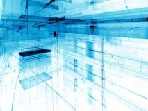 Witte en blauwe technologie-achtergrond - de samenvatting produceerde digitaal im Royalty-vrije Stock Foto