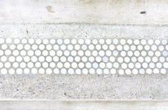 Witte en blauwe uitstekende tegels Stock Foto