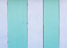 Witte en blauwe zinkmuur Stock Afbeelding
