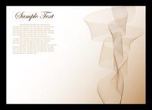 Witte en bruine abstracte achtergrond Stock Fotografie