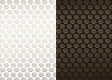 Witte en bruine achtergronden met koffiepatroon Royalty-vrije Stock Afbeelding