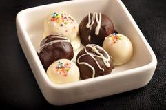 Witte en donkere chocolade Royalty-vrije Stock Fotografie