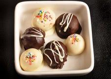 Witte en donkere chocolate2 Royalty-vrije Stock Foto