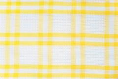 Witte en gele gecontroleerde textuur Royalty-vrije Stock Foto
