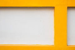 Witte en gele muur Royalty-vrije Stock Afbeeldingen