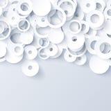 Witte en grijze 3d document abstracte achtergrond Royalty-vrije Stock Foto's