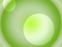 Witte en groene gradiënt als achtergrond Stock Foto