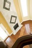 Witte en Groene Marmeren Open haard Royalty-vrije Stock Afbeeldingen