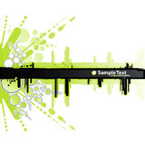Witte en groene retro banner Stock Foto's