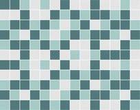 Witte en groene vierkante ceramische mozaïektegels stock fotografie