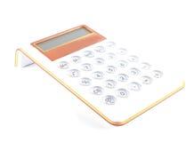 Witte en oranje wiskundige calculator Royalty-vrije Stock Fotografie