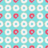 Witte en rode donuts Stock Foto's