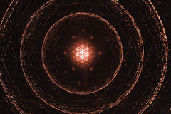 Witte en rode ster Lichte vertoning, gekleurde laser, Oneindigheids lichte tunnel Royalty-vrije Stock Foto's