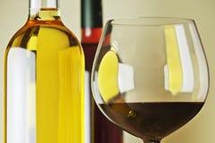Witte en rode wijn Royalty-vrije Stock Afbeelding