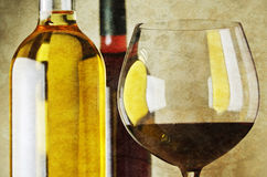 Witte en rode wijn Stock Foto