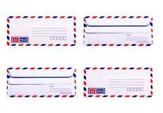 Witte en uitstekende Envelop Royalty-vrije Stock Afbeelding