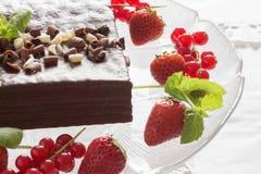 Witte en zwarte chocoladecake Royalty-vrije Stock Foto