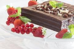 Witte en zwarte chocoladecake Royalty-vrije Stock Afbeelding