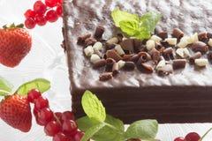 Witte en zwarte chocoladecake Royalty-vrije Stock Fotografie