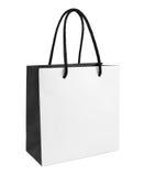 Witte en zwarte document het winkelen zak stock fotografie