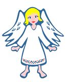 Witte engel royalty-vrije illustratie