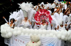 Witte engelen (de Parade van het Kanaal) Stock Foto