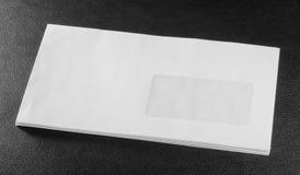 Witte envelop royalty-vrije stock foto's
