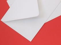 Witte Enveloppen stock afbeelding