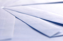 Witte enveloppen Royalty-vrije Stock Foto