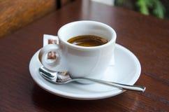 Witte espressokop royalty-vrije stock afbeelding