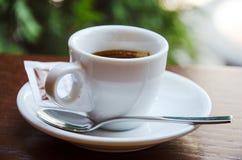 Witte espressokop stock foto's