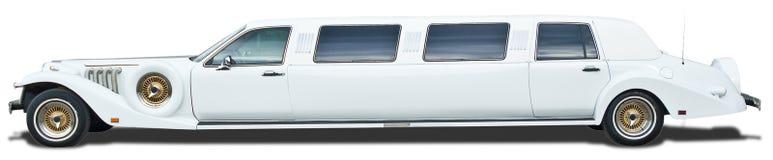 Witte excaliburauto op wit Royalty-vrije Stock Afbeelding