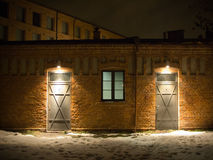 Witte fabriek in Lodz Stock Foto
