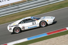 Witte Ferrari - panning Stock Foto's
