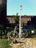 Witte fiets Royalty-vrije Stock Afbeelding