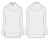 Witte flodderige gebreide sweater Royalty-vrije Stock Foto's