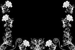 Witte geïllustreerde bloemen Stock Afbeeldingen