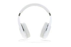 Witte geïsoleerde hoofdtelefoons Stock Foto