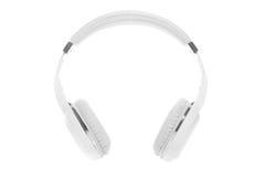 Witte geïsoleerde hoofdtelefoons Stock Afbeeldingen